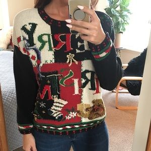 VINTAGE MERRY CHRISTMAS SWEATER